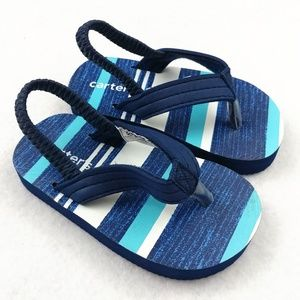 Carter's NWOT Size XS (3-4) Striped Sandals